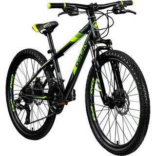 "Galano G201 24"" Jugendrad Mountainbike Dirt Bike schwarz/grün"