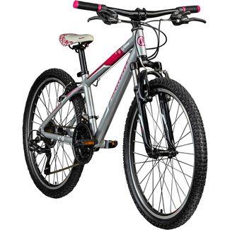 "Galano Nova 24"" Jugendrad Mädchen ab 8 Dirt Bike Kinder grau/pink"
