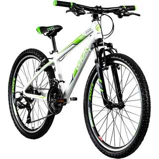 "Galano G200 24"" Jugendrad Mountainbike Dirt Bike weiß/grün"