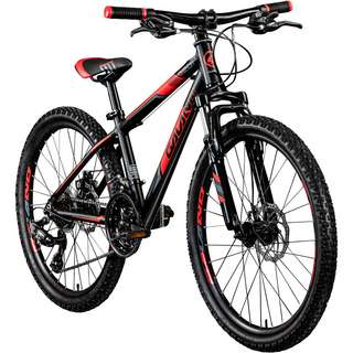 "Galano G201 24"" Jugendrad Mountainbike Dirt Bike schwarz/rot"