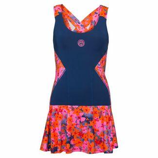 BIDI BADU Alara Tech Dress (2 in 1) Tenniskleid Damen dunkelblau/pink/orange