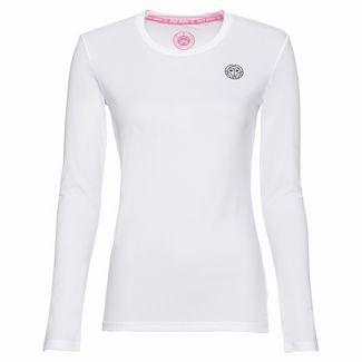 BIDI BADU Pia Tech Roundneck Longsleeve Tennisshirt Damen weiß