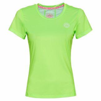 BIDI BADU Eve Tech Roundneck Tee Tennisshirt Damen neongrün