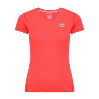 BIDI BADU Eve Tech Roundneck Tee Tennisshirt Damen coral