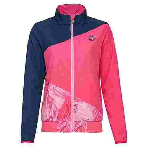 BIDI BADU Gene Tech Jacket Funktionsjacke Damen dunkelblau/berry/rosa