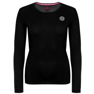BIDI BADU Pia Tech Roundneck Longsleeve Tennisshirt Damen schwarz