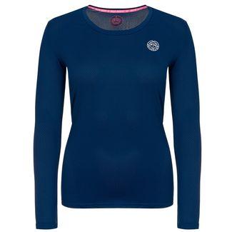 BIDI BADU Pia Tech Roundneck Longsleeve Tennisshirt Damen dunkelblau