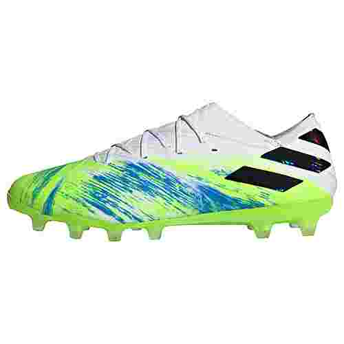 adidas Nemeziz 19.1 AG Fußballschuh Fußballschuhe Damen Cloud White / Core Black / Signal Green