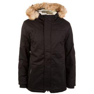 Urban Classics Heavy Cotton Imitation Fur Parka Outdoorjacke Herren schwarz