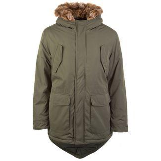 Urban Classics Hooded Faux Fur Herren Outdoorjacke Herren oliv