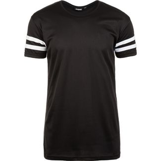 Urban Classics Stripe Mesh T-Shirt Herren schwarz / weiß