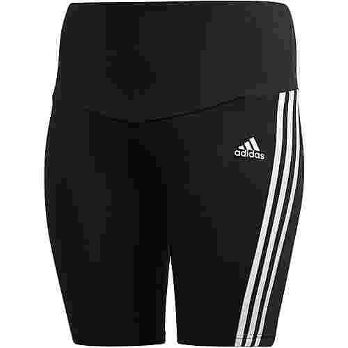 adidas Plus Size Radlerhose Tights Damen black