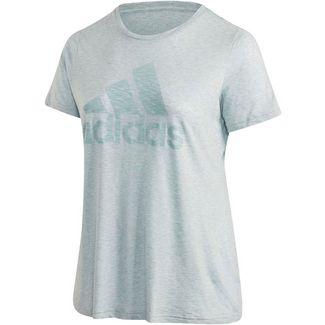 adidas Plus Size T-Shirt Damen green tint mel