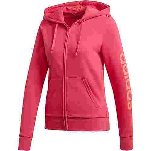 adidas Linear Sweatjacke Damen power pink