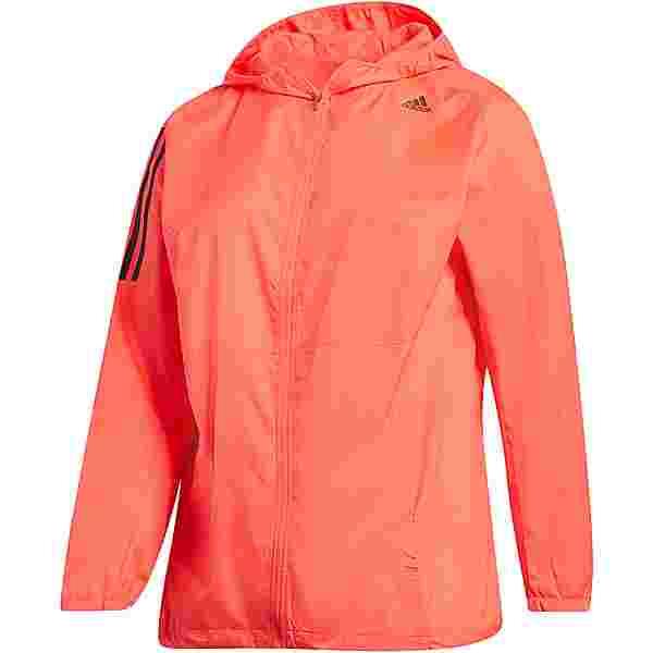 adidas Plus Size Laufjacke Damen signal pink