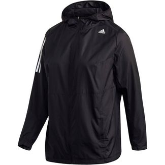 adidas Plus Size Laufjacke Damen black