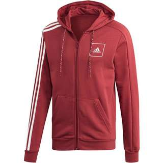 adidas Tape Sweatjacke Herren legacy red