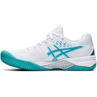 ASICS GEL-CHALLENGER 12 CLAY Tennisschuhe Damen white-techno cyan