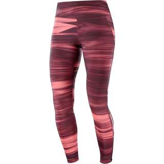 Salomon AGILE Tights Damen winetasting/cayenne/ao