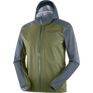 Salomon BONATTI Regenjacke Herren ebony/olive night