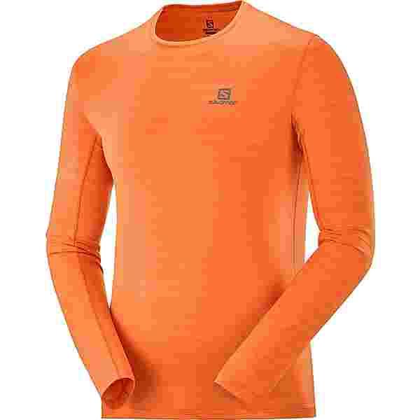 Salomon XA LS Funktionsshirt Herren red orange/heather