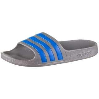 adidas ADILETTE AQUA Badelatschen Kinder grey three-true blue-grey three