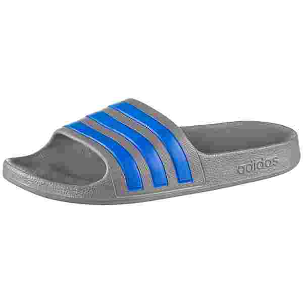 adidas ADILETTE AQUA Badelatschen Kinder grey three-true blue-grey three