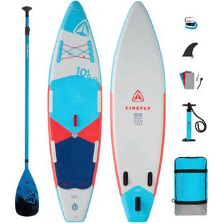 FIREFLY iSUP 500 I + Fiberglas Paddel SUP Sets grey-blue-red