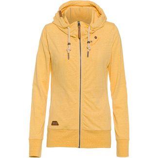 sweatshirt jacke damen gelb