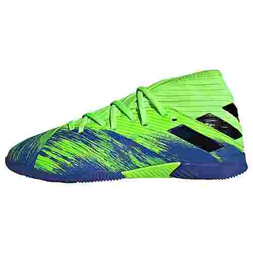 adidas Nemeziz 19.3 IN Fußballschuh Fußballschuhe Kinder Signal Green / Core Black / Royal Blue
