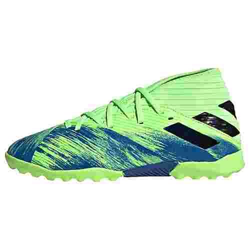 adidas Nemeziz 19.3 TF Fußballschuh Fußballschuhe Kinder Signal Green / Core Black / Royal Blue