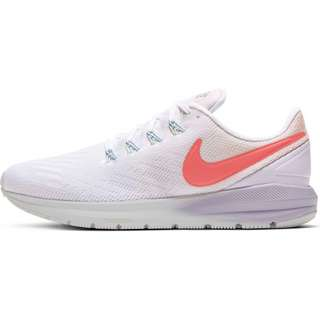 Nike AIR ZOOM STRUCTURE 22 Laufschuhe Damen washed coral-magic ember-white