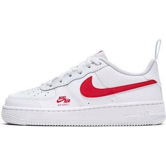 Nike Nike Air Force 1 Sneaker Kinder white/university red-lt smoke grey