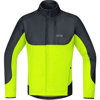 GORE® WEAR GORE-TEX® C5 GORE® WINDSTOPPER® Thermo Trail Jacke Fahrradjacke Herren black-neon yellow
