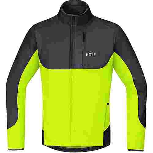 GORE® WEAR GORE-TEX® C5 GORE® WINDSTOPPER® Thermo Trail Jacke Fahrradjacke Herren black-neon yellow