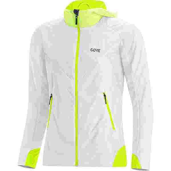GORE® WEAR GORE-TEX R5 Infinium Laufjacke Damen white-neon yellow