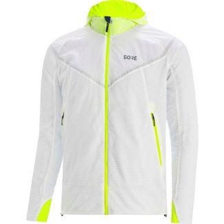 GORE® WEAR GORE-TEX® R5 Infinium Laufjacke Herren white/neon yellow