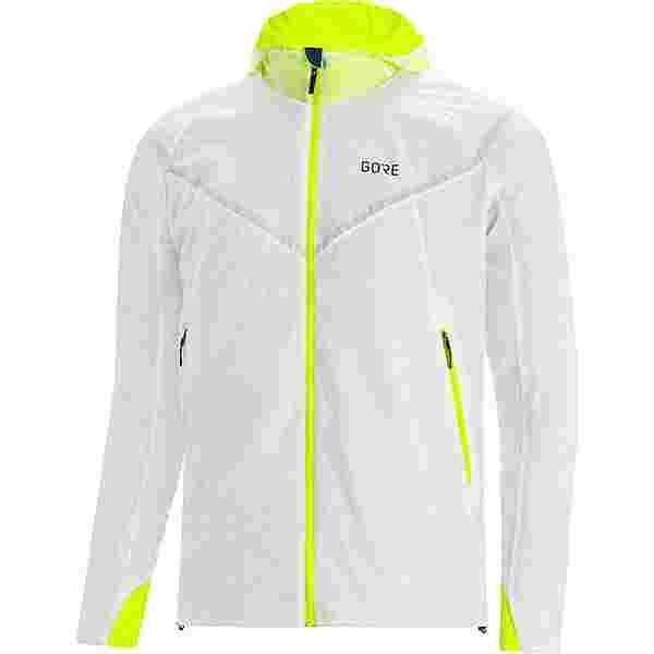 GORE® WEAR GORE-TEX R5 GTX I Insulated Laufjacke Herren white/neon yellow