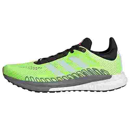 adidas SolarGlide 3 Laufschuh Laufschuhe Herren Signal Green / Core White / Core Black