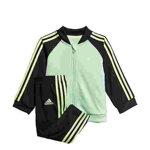 adidas 3-Streifen Tricot Trainingsanzug Trainingsanzug Kinder Glory Mint / Black / Signal Green
