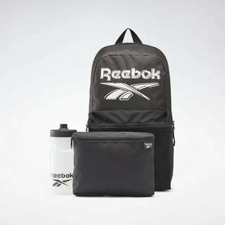Reebok Rucksack Backpack Lunch Set Daypack Kinder Schwarz
