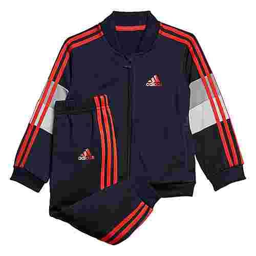 adidas Shiny Trainingsanzug Trainingsanzug Kinder Legend Ink / Hi-Res Red