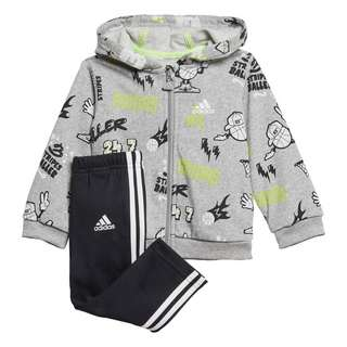 adidas French Terry Graphic Trainingsanzug Trainingsanzug Kinder Medium Grey Heather / White