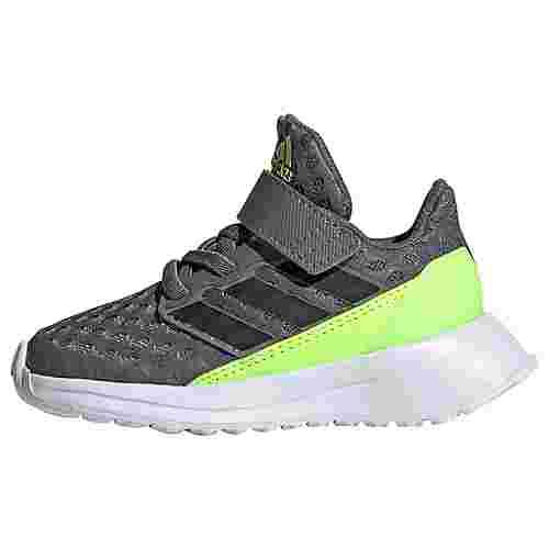 adidas RapidaRun Schuh Laufschuhe Kinder Grey Four / Core Black / Signal Green