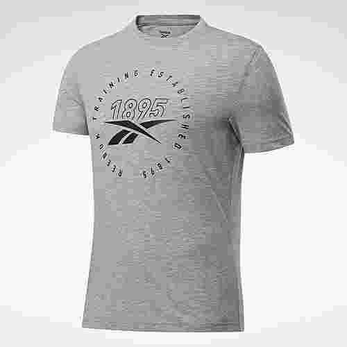 Reebok Graphic Series Speedwick T-Shirt Funktionsshirt Herren Medium Grey Heather / Black