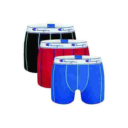 CHAMPION Authentic Boxer Herren black/red/cobalt