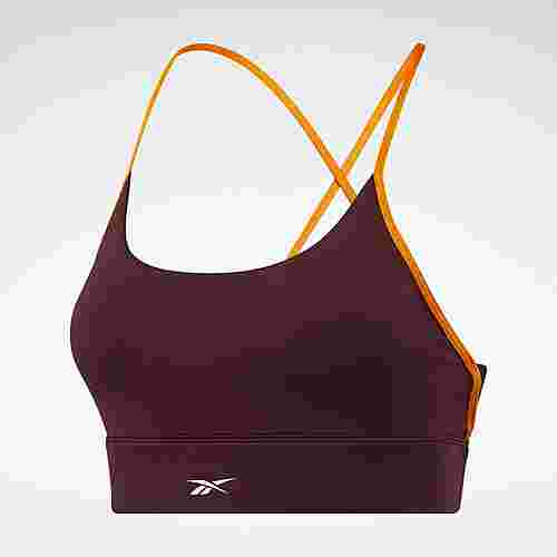 Reebok Workout Ready Low-Impact Tri Bra BH Damen Weinrot