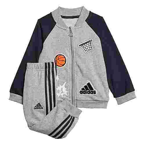 adidas Collegiate Trainingsanzug Trainingsanzug Kinder Medium Grey Heather / Black / White