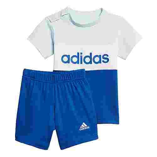 adidas Colorblock Set Trainingsanzug Kinder Sky Tint / Royal Blue / White