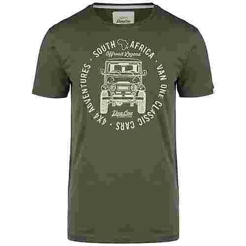 VAN ONE Africa Toyota T-Shirt Herren oliv / beige